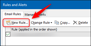 """The """"New Rule"""" button."""