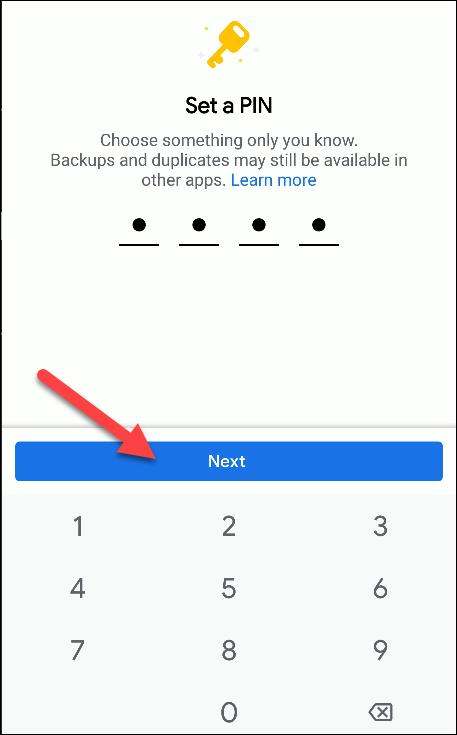 files by google set pin