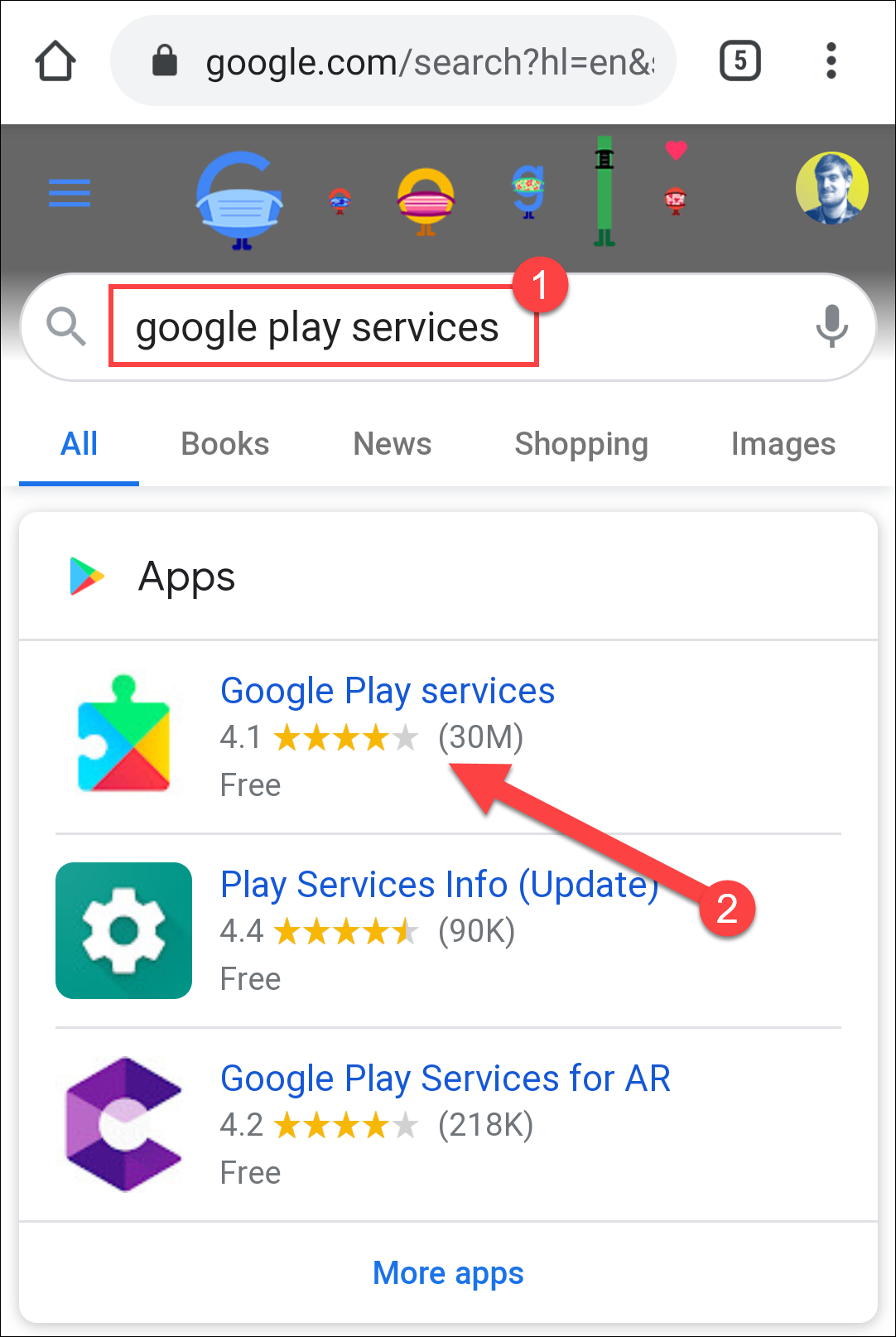 google play services search