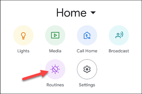 routines for Google Home apps