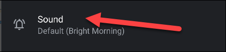 """Tap """"Sound"""" to choose one for your alarm."""