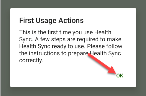 "Tap ""OK"" in the ""First Usage Actions"" popup."