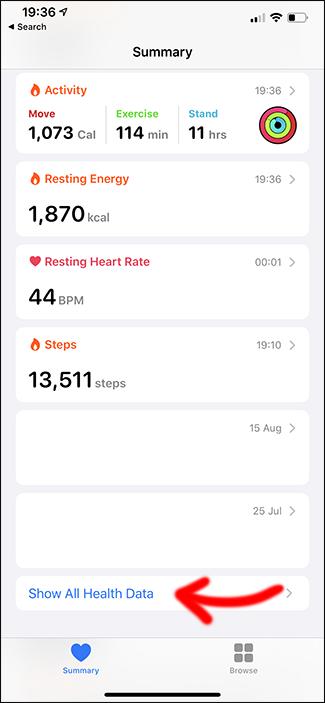 apple health app deleting workout