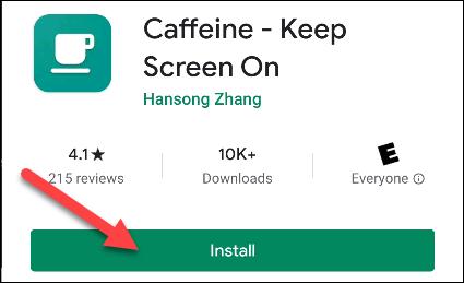 android caffeine app
