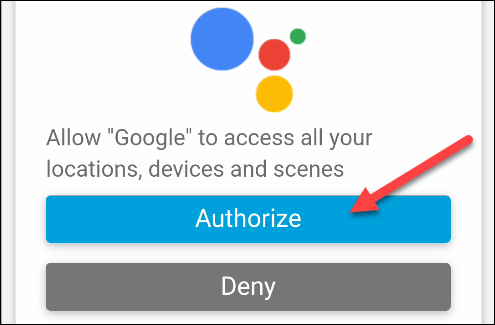 authorize google to access smartthings
