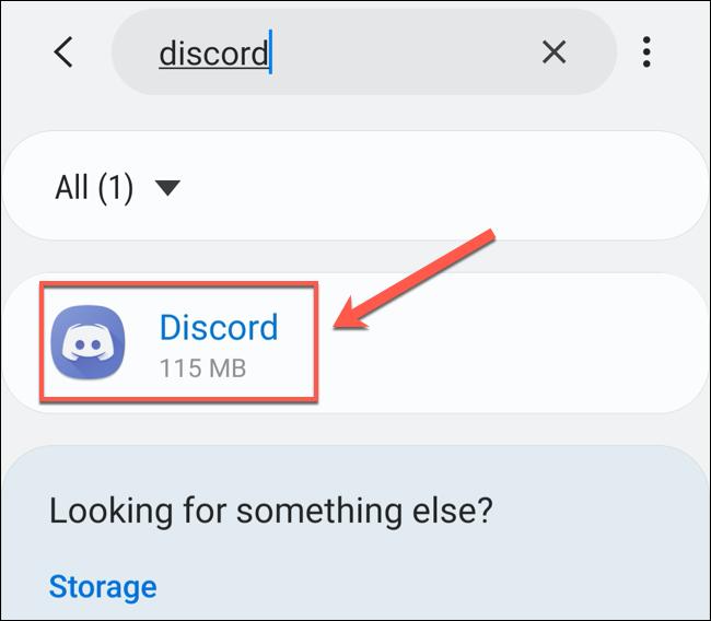 "Tap ""Discord"" in the ""Apps"" menu."