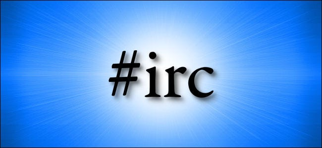 "The letters ""#irc"" on a blue background"