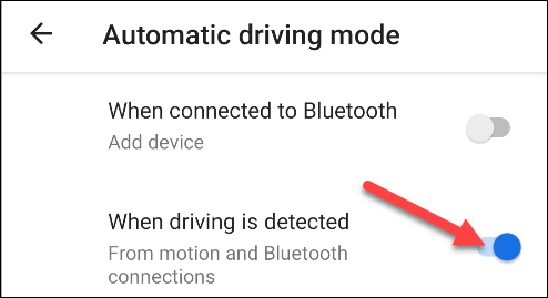 turn on do not disturb when driving is detected