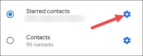 настройки помеченных контактов