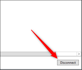 """Click """"Disconnect."""""""