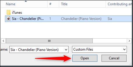 File explorer open button