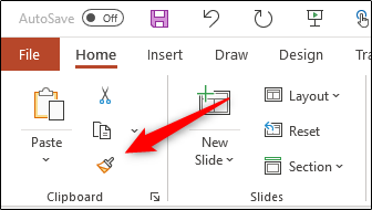 Click the Format Painter icon.