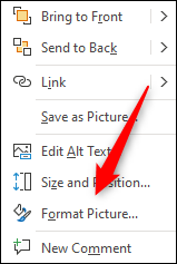 """Click """"Format Picture."""""""