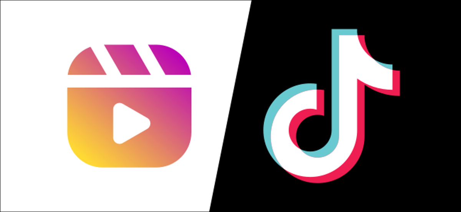 The Instagram Reels and TikTok logos.