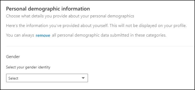 Datos personales de LinkedIn