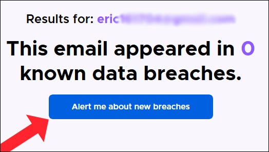 """The """"Alert me about new breaches"""" option in Firefox Monitor."""