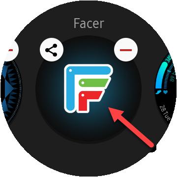 "Select ""Facer."""