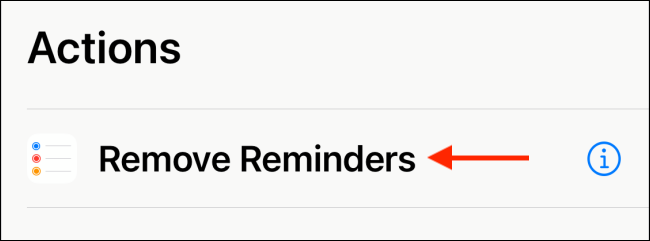 """Tap """"Remove Reminders"""" in the """"Action"""" menu."""