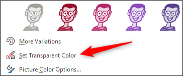 "Click ""Set Transparent Color."""
