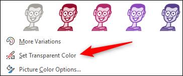 """Click """"Set Transparent Color."""""""