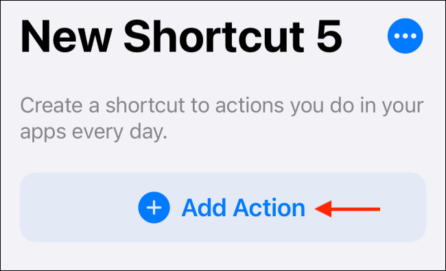 """Tap """"Add Action."""""""