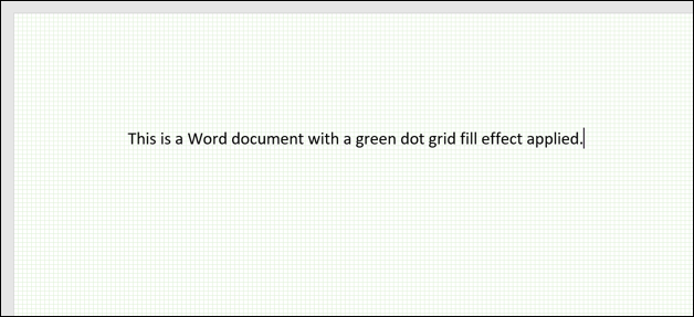 A Word document with a dot grid background in green.