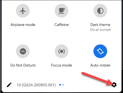 Tap the Gear icon to open the Settings menu.