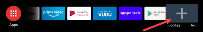 android tv add favorite apps