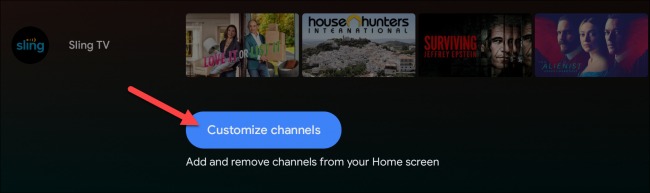 android tv customize channels