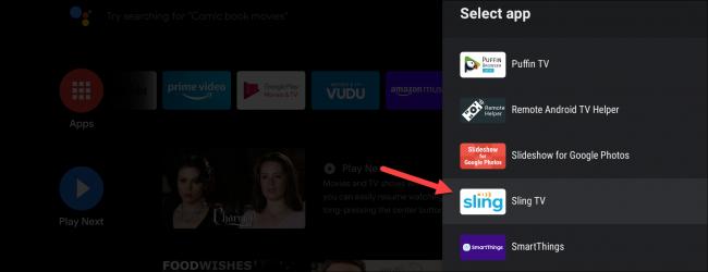 android tv adicionar aplicativos favoritos