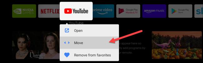 android tv mover aplicativos favoritos