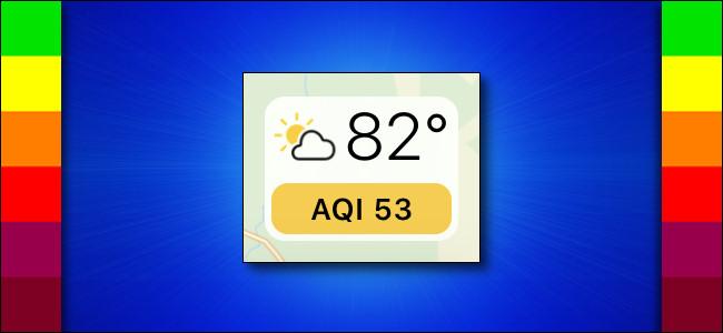 Tela Apple Maps Air Quality (AQI)