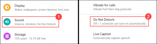 Select Sound > Do Not Disturb