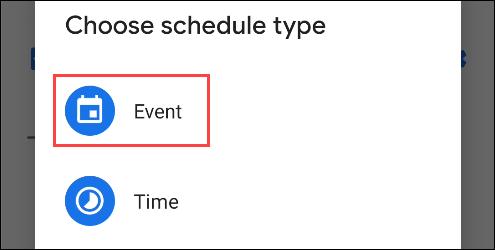 type of event do not disturb