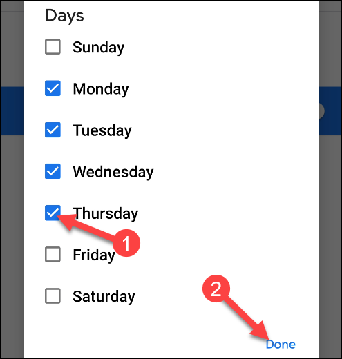 do not disturb certain days of the week