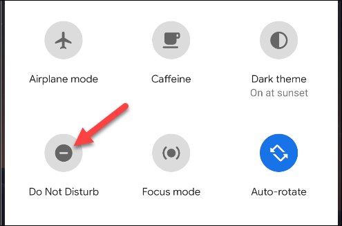 do not disturb toggle quick settings