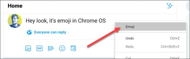 select emoji from menu