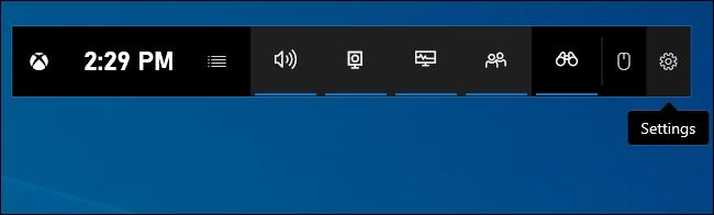 Abriendo la configuración de la barra de juegos.