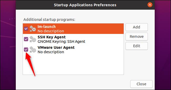 Disabling a startup program on Ubuntu.