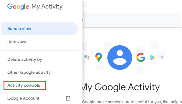 google activity controls