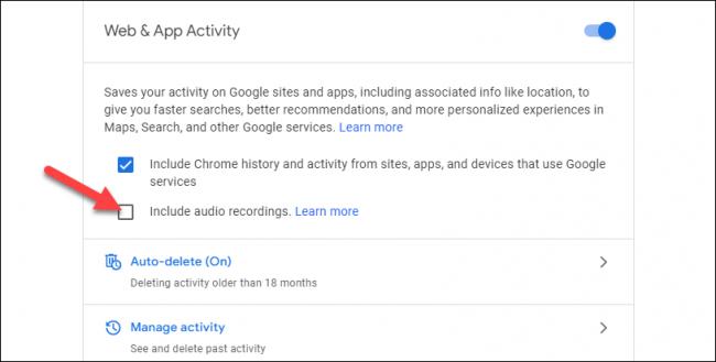 google audio recordings