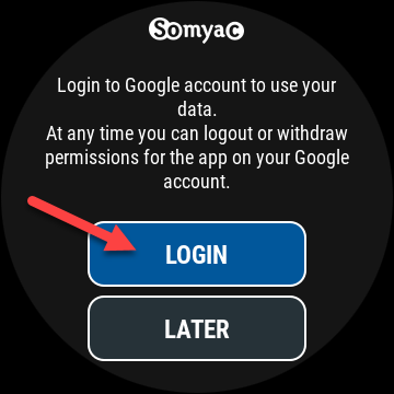 "Select ""Login"" in G-Voice Assistant."
