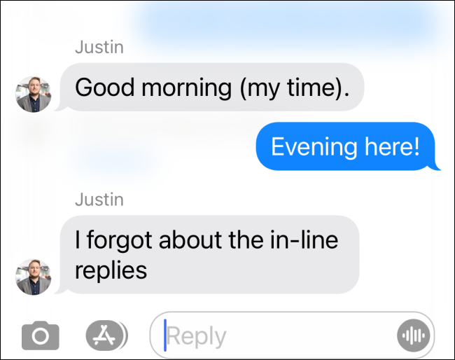 iMessage thread