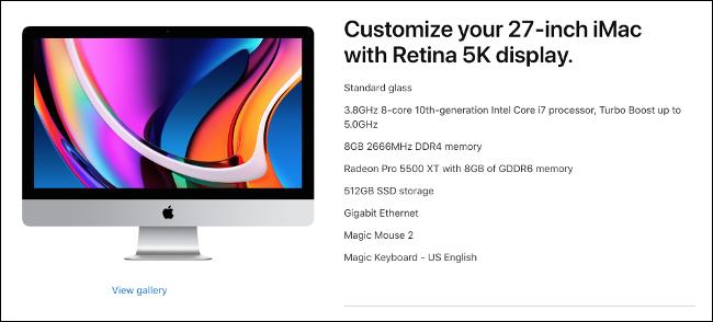 Apple iMac con Core i7 de décima generación