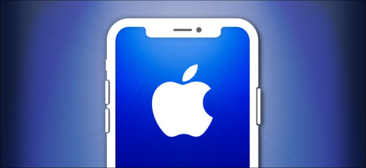 iPhone outline with an Apple logo.