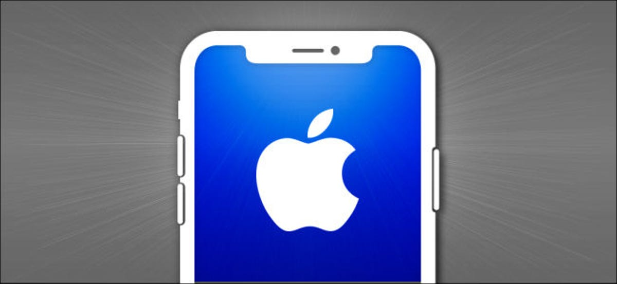 iPhone outline with an Apple logo