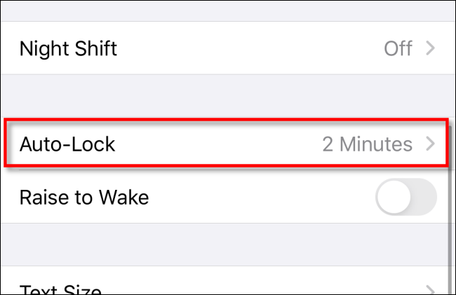 "Tap ""Auto-Lock"" in ""Display & Brightness"" in iPhone Settings."