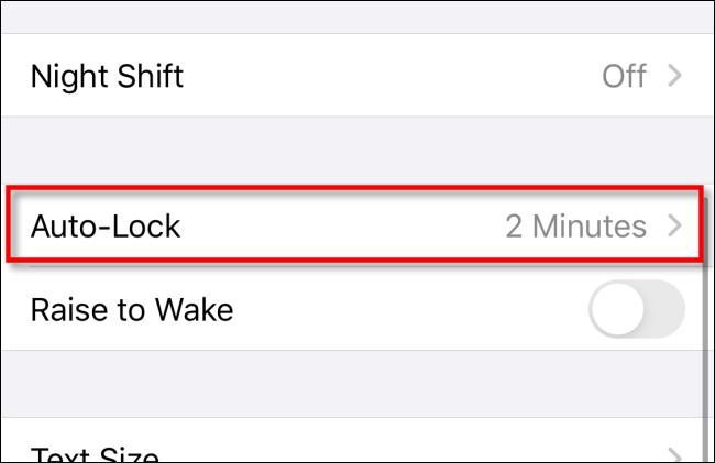 "Tap ""Auto-Lock"" in ""Display & Brightness"" in iPhone Settings."