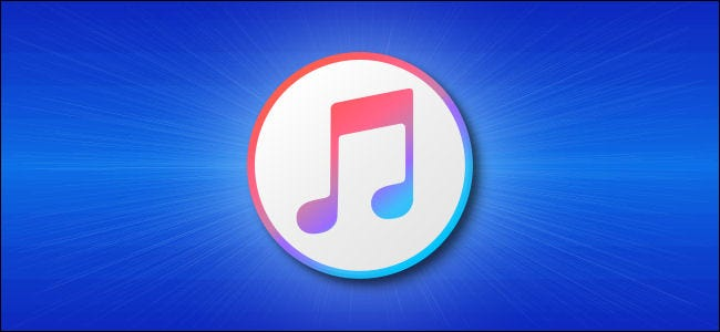 iTunes Logo on a Blue Background