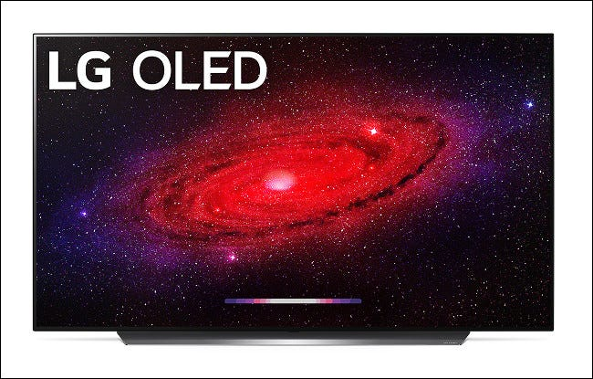An LG CX OLED 2020 Flagship TV.